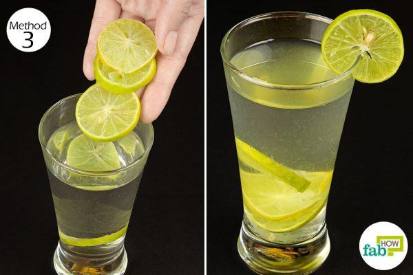lemon water to get rid of dry mouth