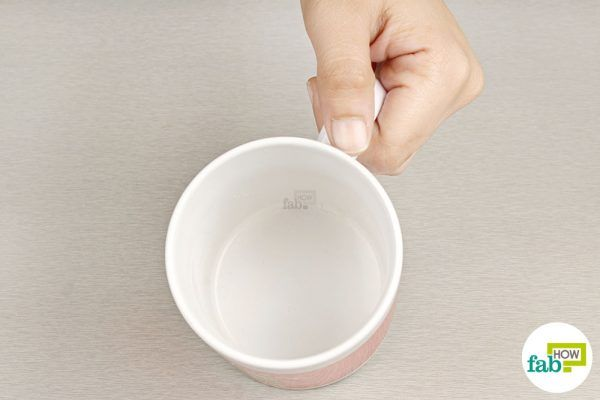 rinse out the coffee mug to remove stains