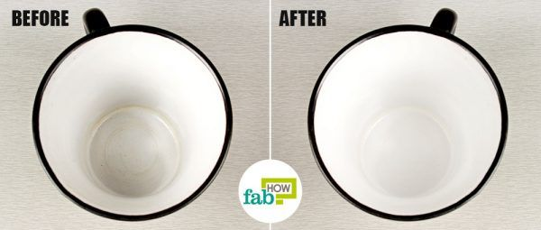 remove tea and coffee stains from cups and mugs with toothpaste