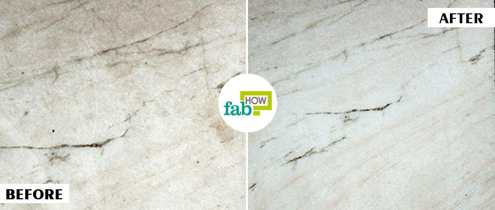 Marble with Common Household Products