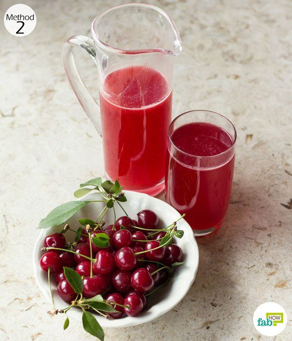drink cherry juice to get relief from gout