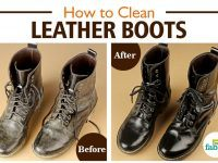 clean leather boots