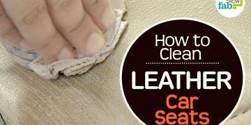 feat image how to clean leather car seats