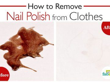 remove nail polish stains from clothes