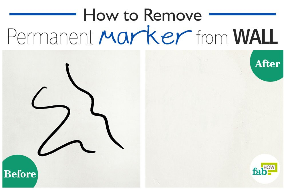 how to remove permanent marker from a wall in seconds fab how. Black Bedroom Furniture Sets. Home Design Ideas