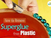 remove superglue from plastic
