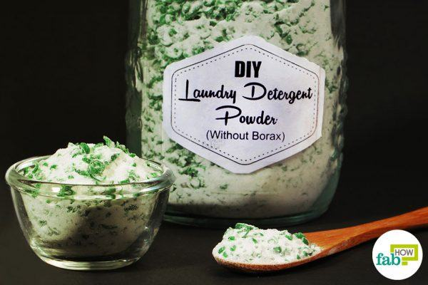 final without using borax to make powder laundry detergent