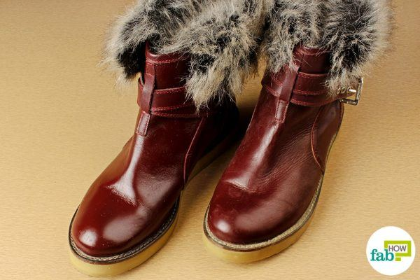 clean boots using olive oil