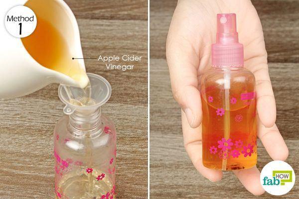 spray apple cider vinegar solution on gout