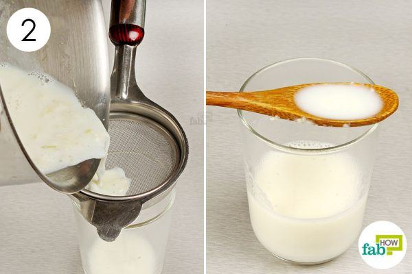 strain the garlic milk and drink to get relief from asthma
