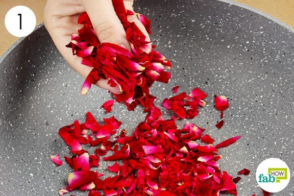 crush the rose petals to make rose petal jam