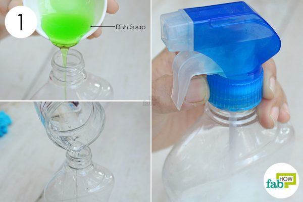 make a dish soap solution