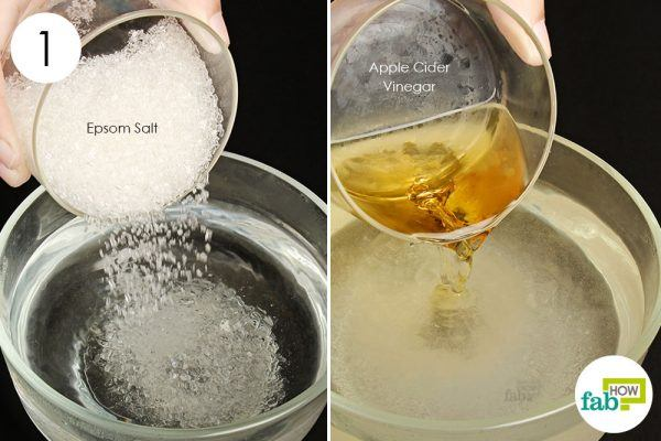make epsom salt vinegar solution