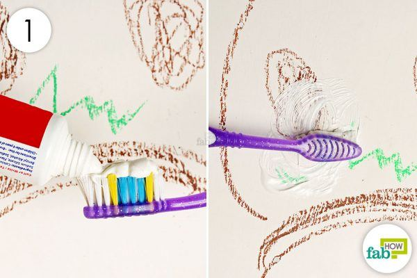 scrub away at the markings with toothpaste