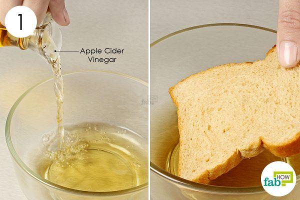 soak bread in apple cider vinegar to get rid of corn