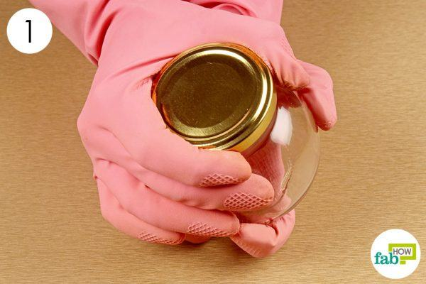 wear gloves in both hands to open a stuck jar lid
