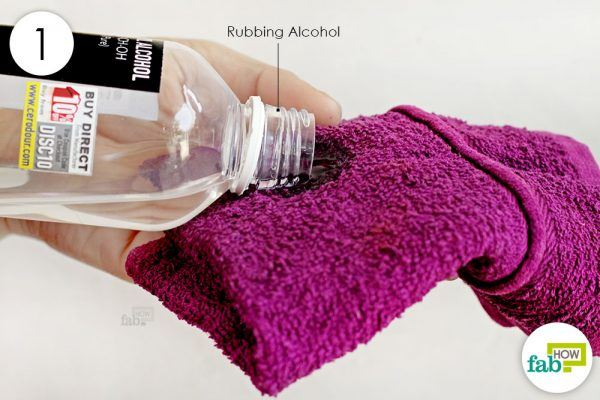 wet a towel with rubbing alcohol to remove permanent ink from wall