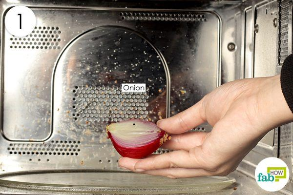 heat half onion in microwave for 30 seconds to treat ear infection