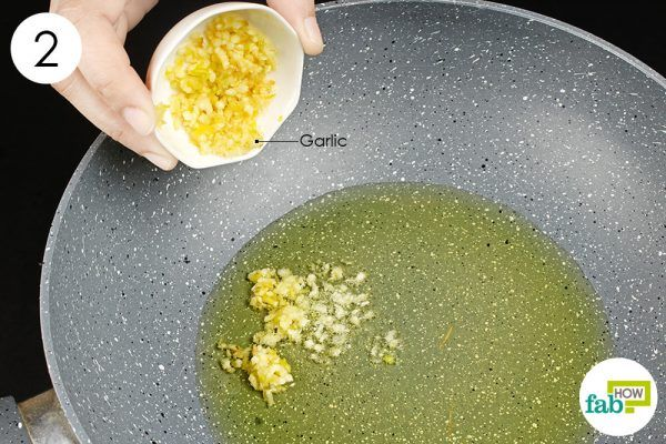 add 1 tablespoon of crushed garlic to oil to treat herpes