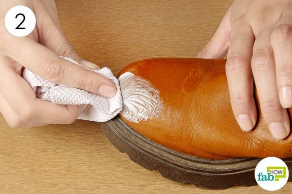 buff your boots with paper towel