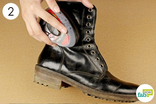 clean the surface dirt from boots