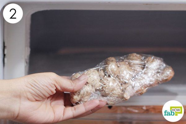 store the ginger in the freezer