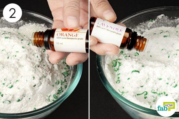 add essential oils to make powder laundry detergent