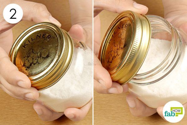 dry, twist and open the stuck jar lid