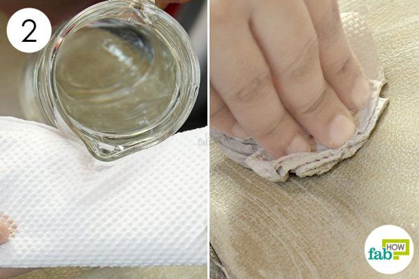 wipe off the toothpaste with damp paper towels