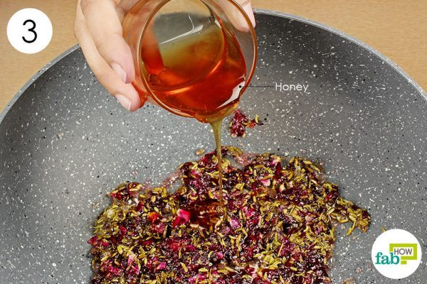 add honey to make rose petal jam