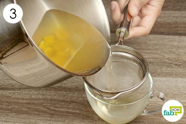 strain ginger water to treat gout