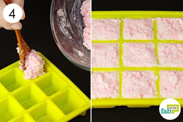 make laundry detergent cubes in ice cube tray
