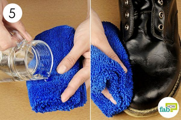 remove the soap residue from the boots