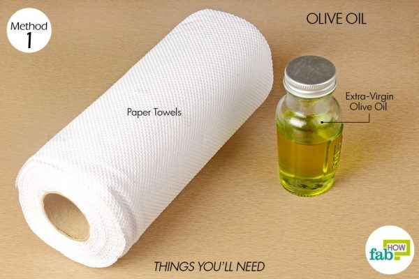things you will need to clean leather boots with olive oil