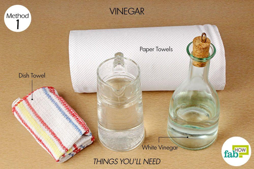 White Vinegar 1 Tablespoon Removes Salt Stains