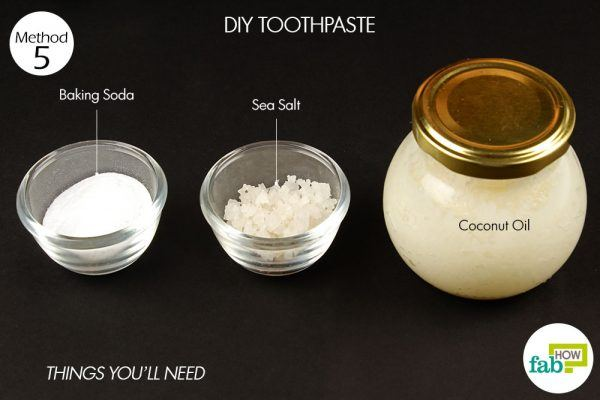 DIY toothpaste to get rid of cavity things need