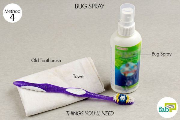 bug spray to remove nail polish stain from clothes