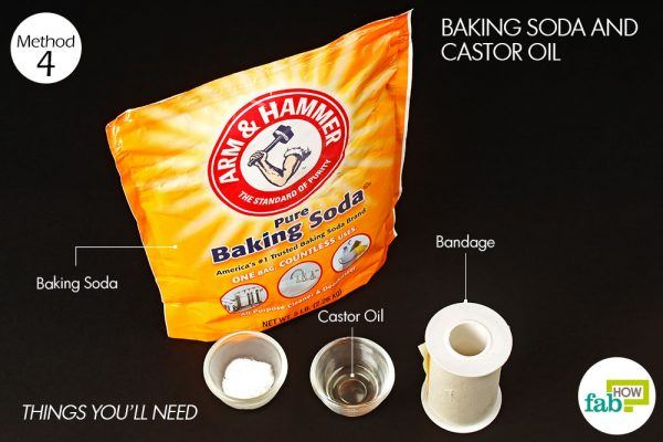 things you need how to get rid of skin moles baking soda and castor oil
