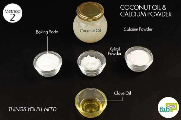things you need how to make diy toothpaste method 2