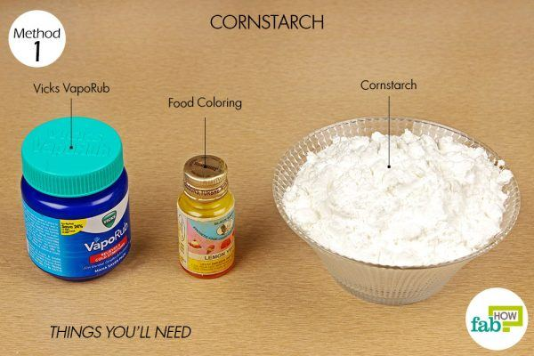 things you'll need to make vicks shower melts with cornstarch