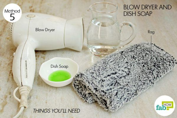 things you need how to remove crayon from walls dish soap method