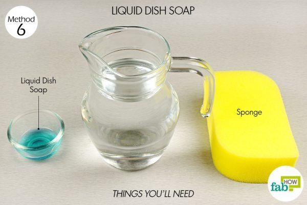 dish soap to remove coffee and tea stains from cups and mugs things need