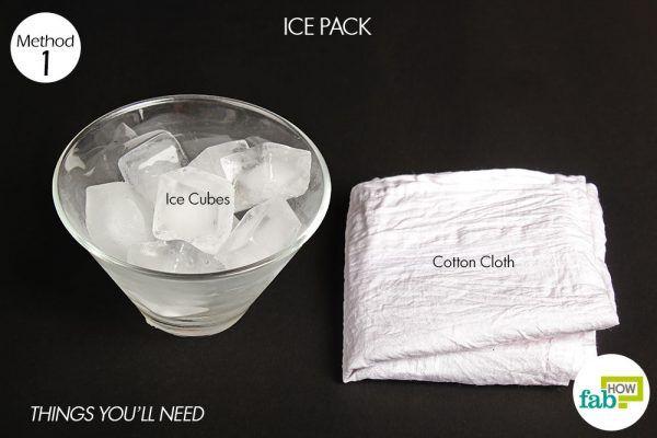 ice pack on black eye things need