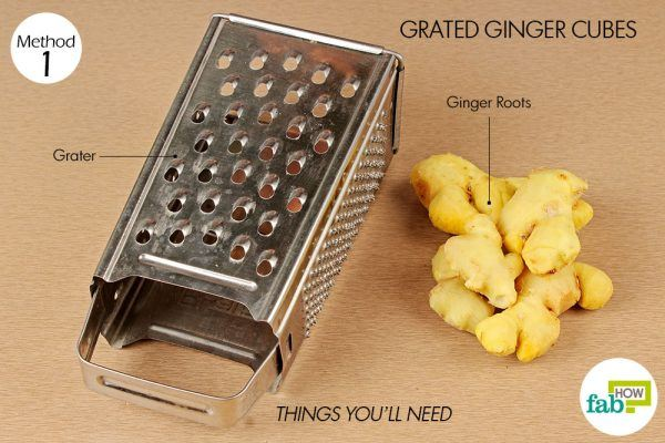 things you need store grated ginger cubes