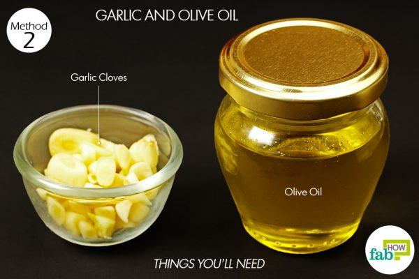 garlic and olive oil for ear infection