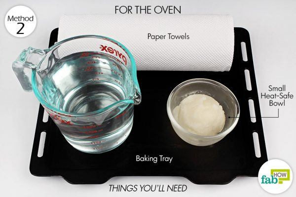 things you'll need to make double boiler in oven