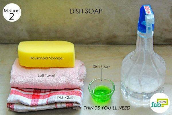 thingsneed using dish soap to clean marble