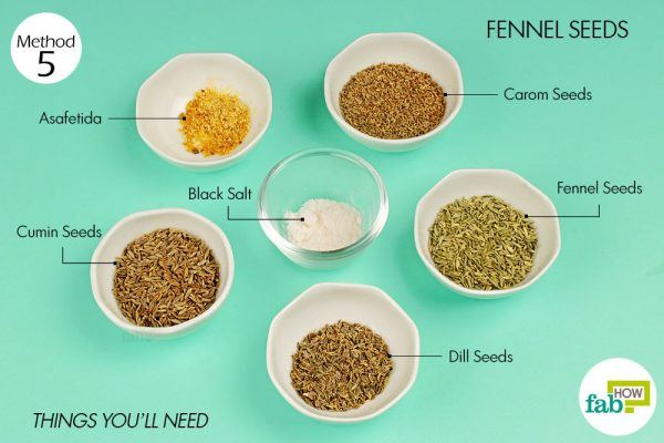 things you'll need for using fennel seeds to treat indigestion