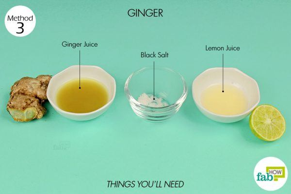 things you'll need to use ginger to treat indigestion