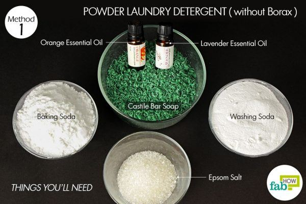 things you'll need to make powder laundry detergent without using borax